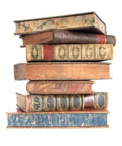 4235386-pile-of-old-leather-bound-books